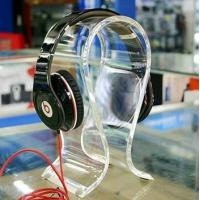 China Clear Acrylic Display Holders , 8mm thick headphone display holders wholesale