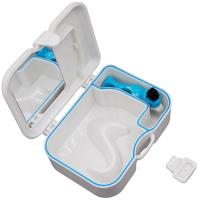 China Dental Storage box Denture False Teeth Case With Mirror and Clean Brush on sale