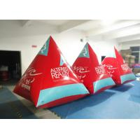 China Safety Red Pyramid Inflatable Water Buoy Markers Customized Size EN14960 Approved wholesale