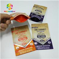 China Long Lifespan Foil Pouch Packaging Heat Seal 1/8oz 1/2oz 1oz CBD Gummies Bag wholesale