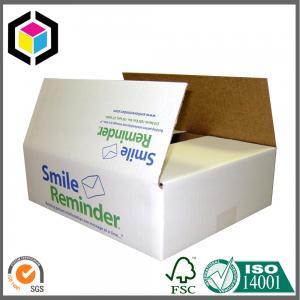 China Color Flexo Print Single Wall B Flute Corrugated Cardboard Packaging Box on sale
