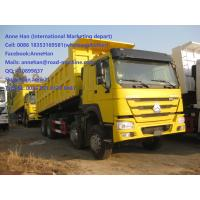 China 40T 371 HP 12 Wheels Yellow Heavy Duty Dump Truck low fuel consumption wholesale