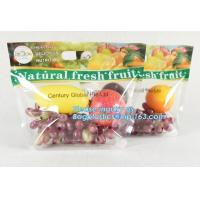 China resealable stand up pouch slider zipper fresh fruit/vegetable protection packaging bag, OPP Laminated Slider Fruit / Gra on sale