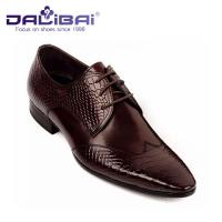 China Mens Leather Dress Shoes Italian Casual Formal Work Shoes With Pointed Toe wholesale
