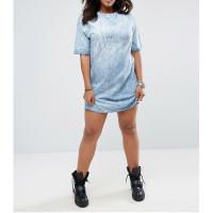China New custom plus size dropped shoulder tie dye cloths women dress on sale