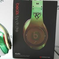China Green with logo, best stereo headphone 2012 wholesale