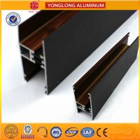 China Customized Hollow Wood Finish Aluminum Window Frame Extrusions wholesale