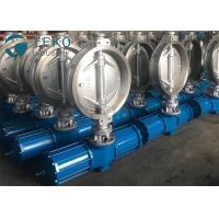 China Carbon Steel Pneumatic Triple Eccentric Butterfly Valve Wafer Type Size Rating 2 To 60 wholesale