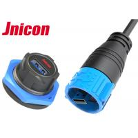 China Jnicon Waterproof USB Connector Panel Mount A Type Single Port For Data Transmission wholesale