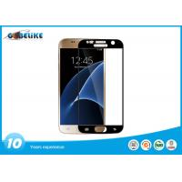 Colored Frame Tempered Glass For Galaxy S7 , Galaxy S7 Glass Screen Protector