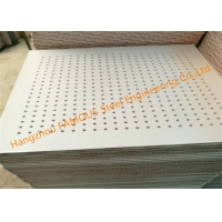 China Perforated 8mm Suspended Gypsum Board Ceiling , 9mm Acoustic Gypsum Board Ceiling wholesale