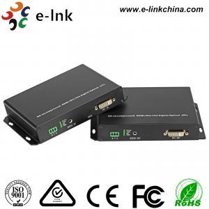 China DVI Fiber Optic Kvm Extender , Hdmi Optical Extender with SFP port wholesale