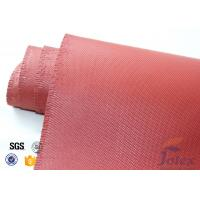 """China Red Silicone Coated Fiberglass Fabric Engine Thermal Insulation 1mm 30oz 39"""" wholesale"""