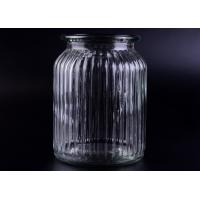 China Clear Tall Soy Glass Bottle Candle Holders / 1000ml Glass Candlestick Holders wholesale