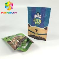 China Mylar Ziplock Plastic Pouches Packaging Pet Feed Treats Bags Gravnre Printing wholesale