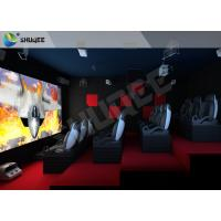 China Red Motion Chairs 5D Theater System , 5D Cinema Simulator For Shopping Mall wholesale