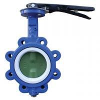 China EPDM Seated Manual Lug Butterfly Valves Wafer Type For Ship Building / Textile wholesale