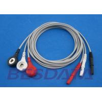 China 3 / 5 / 7 / 10 Leads ECG Cables And Leadwires With Snap Ending 1.5 Mm Din Connector wholesale