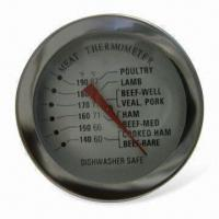 China Meat Thermometer with Stainless Steel Cast and Glass Type Lens wholesale