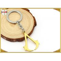 China Hangbag Accessories Metal Key Ring , Sliver Or Golden Plating Bulk Keychain Rings wholesale