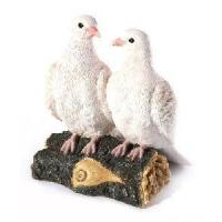 China Polyresin Gift of Doves Pairs for Garden Decoration wholesale