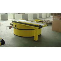 Quality Hypermarket Conveyor Belt Checkout Counter With Hooks 2500L*1160W*850H for sale