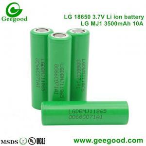2016 Hot sale battery 18650 LG MJ11 3500mah 10A/5C High capacity high power battery
