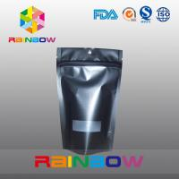 China Reusable Matte Black Doypack Ziplock Coffee Bag Gravure Printing Moisture Proof wholesale