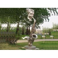 Buy cheap Public contemporary saxophone garden statues,Stainless Steel Art Sculptures for from wholesalers