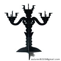 China CH (16) clear fake glass candelabra wholesale