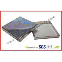 China Offset Printed Silver Paper Gift Packaging Box for Christmas , Custom Top and Base Gift Packaging Boxes wholesale