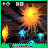 China 2M 210T Polyester Cloth Customized Infatable Sun With LED Light wholesale