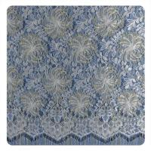China Multi color Chantilly Metallic Nylon Lace Fabric ,  Eyelash Lace Trim For Womens Dress wholesale