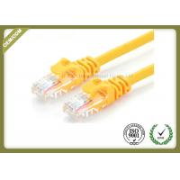 China 24AWG Cat6e Fiber Patch Cord , Internet Patch Cable Pure Copper Multi Stranding Wire wholesale