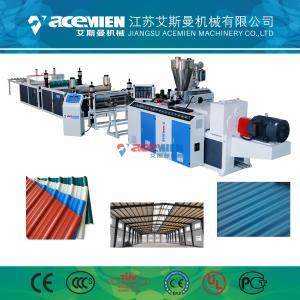 China PVC plastic Corrugated Plastic Roofing Sheet Making Machine wholesale