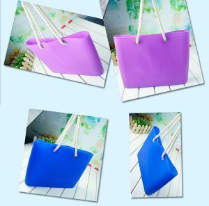 China Wholesale fashional silicone beach bag with custom logo on sale