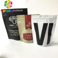 China Reusable Gusseted Stand Up Pouch Packaging Plastic Biodegradable Valve Coffee Bags on sale