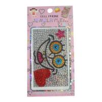 China Cell Phones DIY Crystal Crossbones Pattern Rhinestone Bling Stickers wholesale