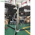 China 9m lockable pneumatic telescopic mast 100kg payloads NR-2200-9000-100L antenna telescopic mast poles wholesale