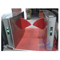 China Dual door access bi-directional channel electrical safe library entrance turnstile with barcode rfid interface wholesale