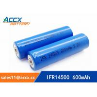 China shaver battery lithium ifr14500 3.2v 600mAh AA rechargeable battery wholesale