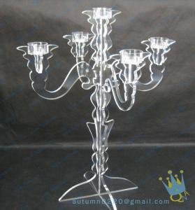 China CH (7) Acrylic hurricane candle holders wholesale