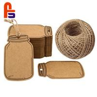 China Personality Bottle Shape Recyclable Personalized Brown Paper  Screen Printing Cardboard Gift Tags wholesale
