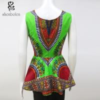 China Stylish African Inspired Print Jumpsuits Dresses Anti - Wrinkle Wax Printed wholesale