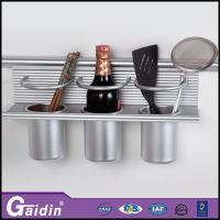 China Aluminum wall mounted foggy silver kitchen racks,aluminum kithcen shelves wholesale