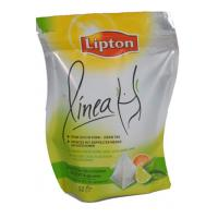 Quality Graceful Curved Lipton PET / VMPET / PE Tea Packaging Bags Stand Up for sale