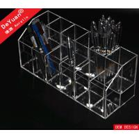 China Handmade Acrylic Pen Holder Display / Plexiglass Pen Organizer wholesale
