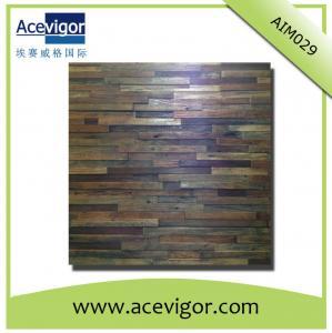 China Antique wood wall mosaic panel wood wall mosaic tiles wholesale