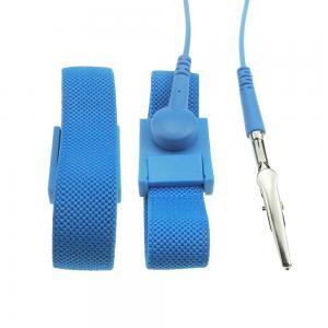China PA6 Plastic Buckle 4MM Snap Conductive Fiber ESD Wrist Strap wholesale