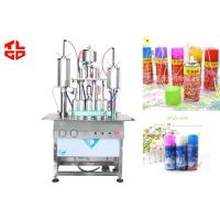 China Semi Automatic Aerosol Filling Machine / Equipments For Party Snow Spray , Party Strings wholesale